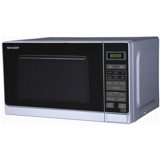 Sharp R272SLM Compact Microwave Oven in Silver 800W 20 litre