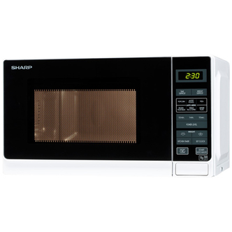 Sharp R272WM Compact Microwave Oven in White 20 litre 800W