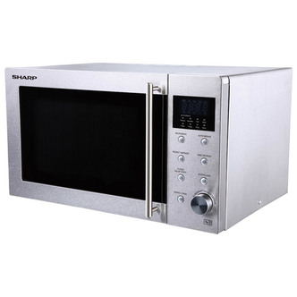 Sharp R28STM Standard Microwave - Stainless Steel