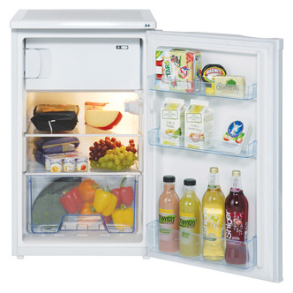 LEC R5010W 50cm Undercounter Fridge with Freezer Box in White A