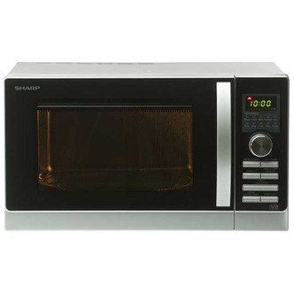 Sharp R842SLM Combination Microwave Oven Silver Black 25L 900W