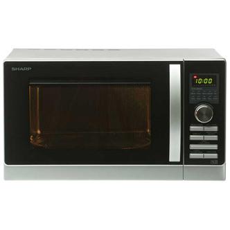 Sharp R842SLM Combination Microwave Oven Silver Black 25L 900W