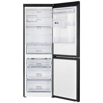 Samsung RB29FWRNDBC Freestanding Fridge Freezer in Gloss Black Best Price and Cheapest