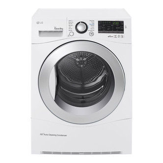 LG RC9055AP2F 9kg ECO Hybrid Heat Pump Tumble Dryer in White A
