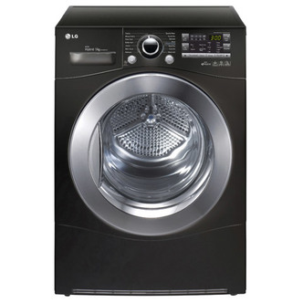 LG RC9055BP2Z 9kg Condenser Tumble Dryer in Black A Energy Rated