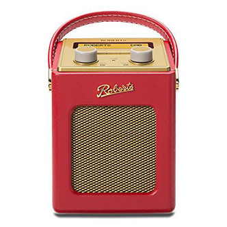 Roberts REVIVMINI RD Revival Mini DAB DAB FM RDS Radio w Charger Red