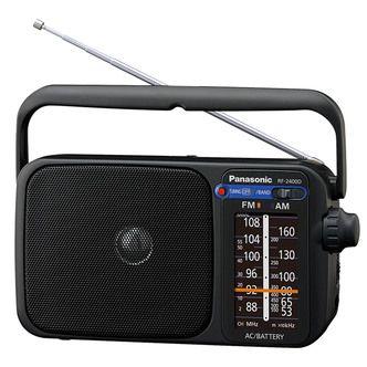 Panasonic RF 2400DEB K Portable FM AM Large Display Analogue Radio in
