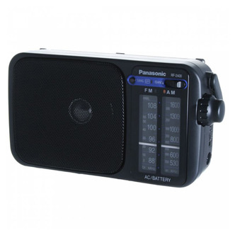 Panasonic RF 2400 Portable FM AM Large Display Analogue Radio in Black