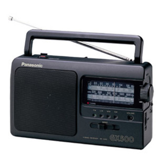 Panasonic RF 3500 Portable FM AM LW SW Analogue Radio in Black