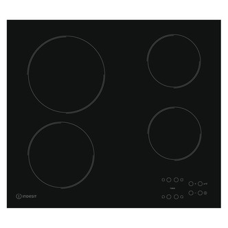 Indesit RI161C 60cm Frameless Ceramic Touch Control Hob in Black