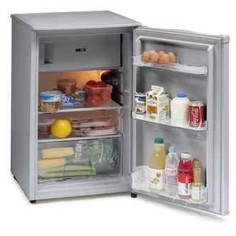 Iceking RK104AP2SIL 50cm Under Counter Fridge with Ice Box Silver