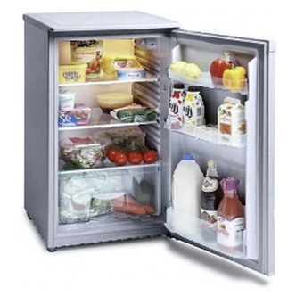 Iceking RL106AP2SIL Under Counter Larder Fridge 50cm A Energy Silver
