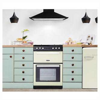Image of Montpellier RMC61GOC 60cm Gas Cooker in Cream Double Oven A Energy Rat
