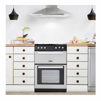 Image of Montpellier RMC61GOX 60cm Gas Cooker in St St Double Oven A Energy Rat
