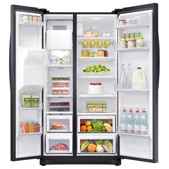 Samsung RS50N3413BC No Frost Side-by-side American Fridge Freezer With Ice And Water Dispenser - Bla