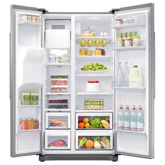 Samsung RS50N3513SA American Fridge Freezer in Silver Ice Water 1 78m