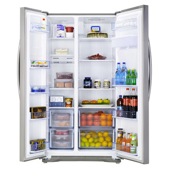 Hisense RS723N4WC1 American Style Fridge Freezer in St Steel Water Dis