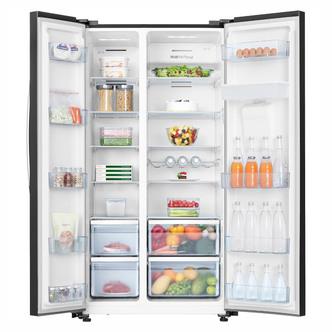 Hisense RS741N4WB11 American Style Fridge Freezer in Black F Rated