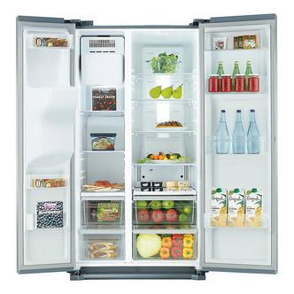 Samsung RS7567BHCSL American Fridge Freezer in Steel Ice Water 1 8m A