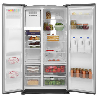 Samsung RS7567THCBC American Fridge Freezer in Gloss Black Ice Water 1