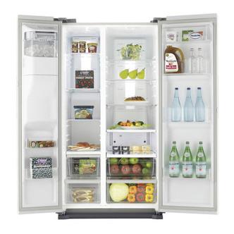 Samsung RS7667FHCWW American Fridge Freezer in White Ice Water 18 m A
