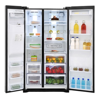 Samsung RSG5MUBP1 American Fridge Freezer in Gloss Black Ice Water 1 8