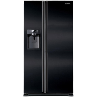 Samsung RSG5UUBP American Fridge Freezer in Gloss Black Ice Water
