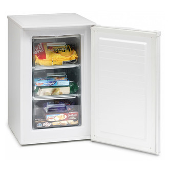 Iceking RZ83AP2 50cm Under Counter Freezer in White 0 85m F Rated