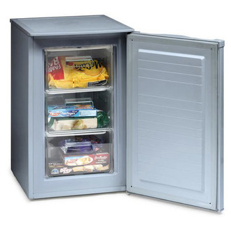 Iceking RZ83AP2SIL Under Counter Freezer 50cm A Energy in Silver