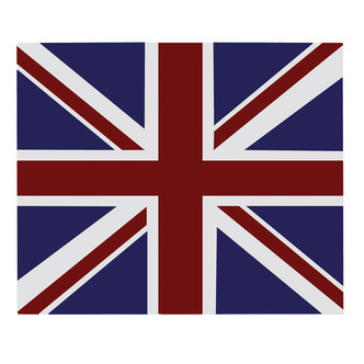 Unbranded 444442922 Unbranded 90cm Glass Splashback Union Jack in Colo