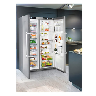 Liebherr SBSef7242 Comfort A++ Side-by-side American Fridge Freezer Silver With Stainless Steel Door