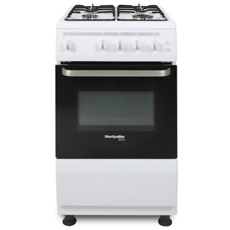Image of Montpellier SCG50W 50cm Gas Cooker in White Single Oven FSD