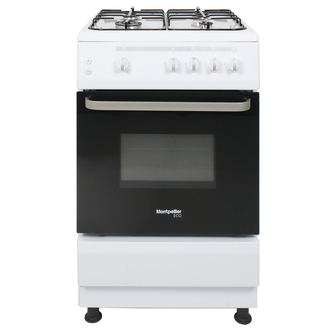 Image of Montpellier SCG60W 60cm Gas Cooker in White Single Oven FSD