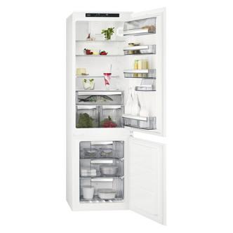 Image of AEG SCS8181ETS 55cm Built In 70 30 Frost Free Fridge Freezer 1 77m A