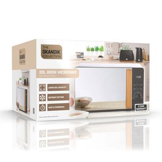 Daewoo SDA1698GE SKANDIK Microwave Oven in Black 20L 800W