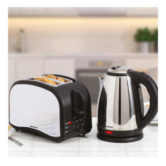 Daewoo SDA1713GE Cordless Jug Kettle 2 Slice Toaster Set