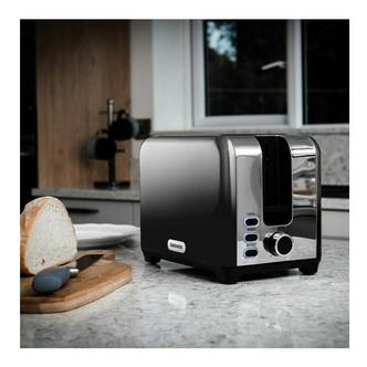 Daewoo SDA1852GE CALLISTO 2 Slice Toaster Black Fade
