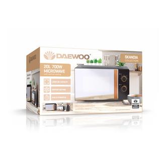 Daewoo SDA2045WK SKANDIA Microwave Oven in Black 20L 700W