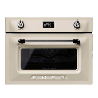 Image of Smeg SF4920VCP 45cm Victoria Built In Steam Oven in Cream