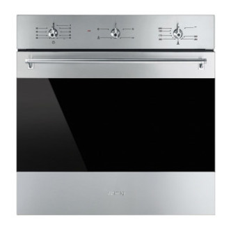 Smeg SF6341GVX 60cm Built In Gas Fan Oven with Electric Grill St Steel