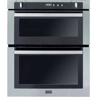 Stoves 444440830 70cm Built Under Gas Double Oven in Stainless Steel