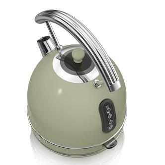 Swan SK14630GN 1 7 Litre Retro Dome Kettle in Green 3 0kW Rapid Boil