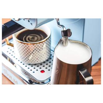 Swan SK22110BLN Retro Pump Espresso Coffee Machine in Blue 15 Bars