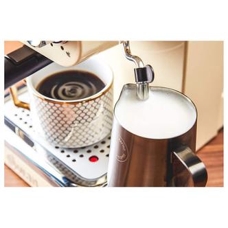 Swan SK22110CN Retro Pump Espresso Coffee Machine in Cream 15 Bars