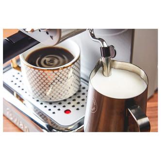 Swan SK22110GRN Retro Pump Espresso Coffee Machine in Grey 15 Bars