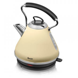 Swan SK34010CREN 1 7 Litre Townhouse Pyramid Kettle in Cream
