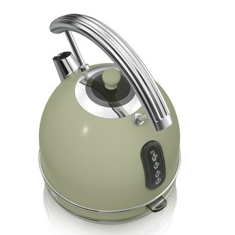 Swan SK34020GN 1 7 Litre Retro Dome Kettle in Green 3 0 kW Rapid Boil