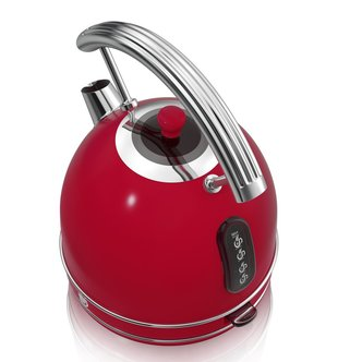 Swan SK34020RN 1 7 Litre Retro Dome Kettle in Red 3 0 kW Rapid Boil