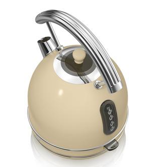 Swan SK34021CN 1 7 Litre Retro Dome Kettle in Cream 3 0 kW Rapid Boil
