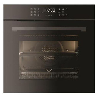 Image of CDA SL550BL 77L Pyrolytic Single Electric Fan Oven in Black